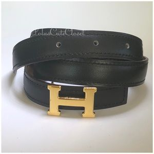 Authentic Mini Hermes 13mm Belt Size 80